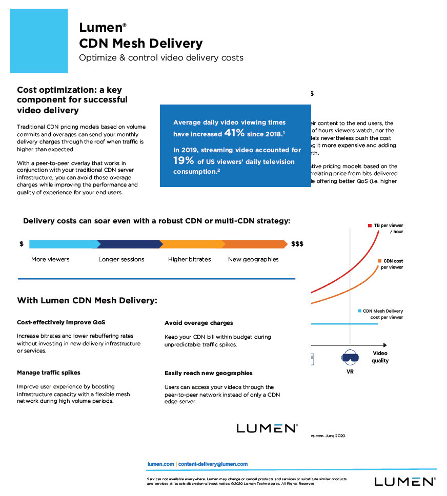 One-Pager CDN Mesh Delivery - Controlled Costs