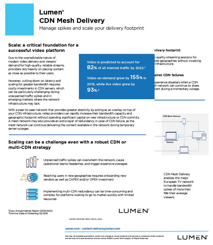 One-Pager CDN Mesh Delivery - Scalability