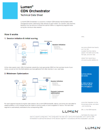 Orchestrator Technical Data Sheet